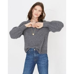 Madewell Gladwell Balloon Sleeve Pullover Sweater